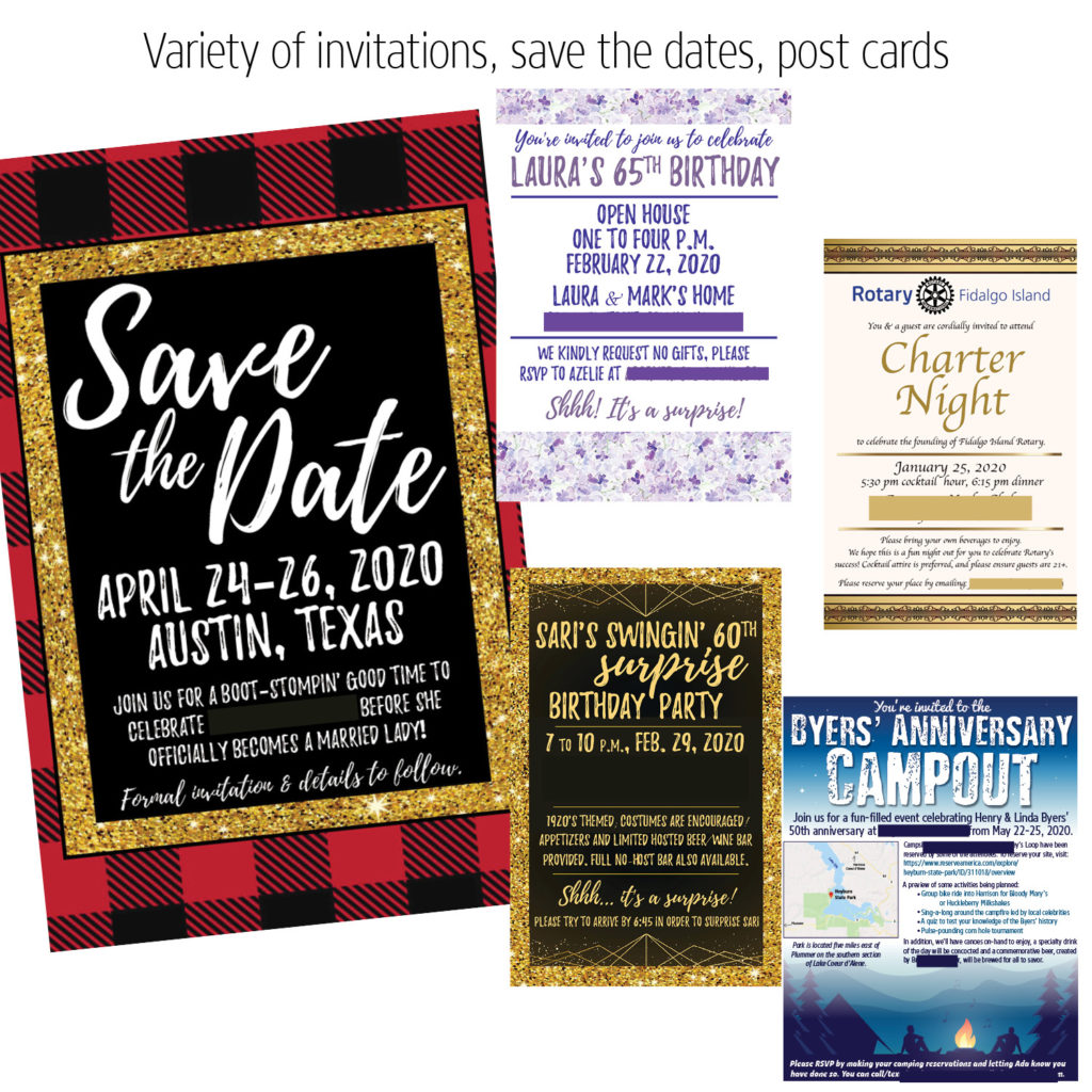 invitation graphic design